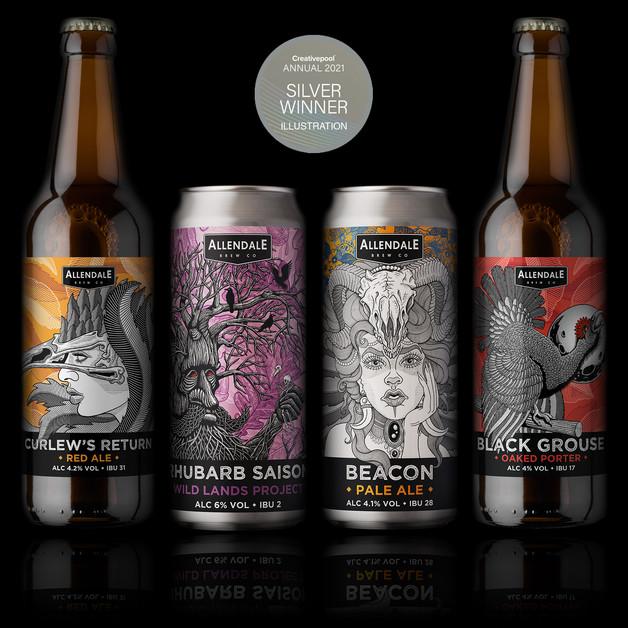 allendale-four-beer-labels-design-martin-marcin-reznik-creativepool-annual2021-silver-awar