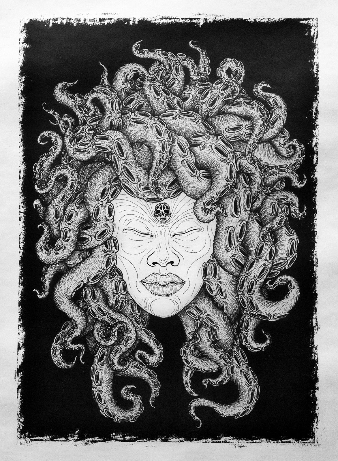 Medusa photolitho print martin marcin re