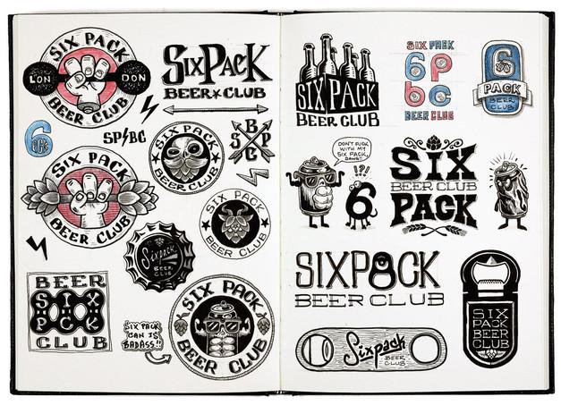 six-pack-beer-club-logo-design-sketchboo