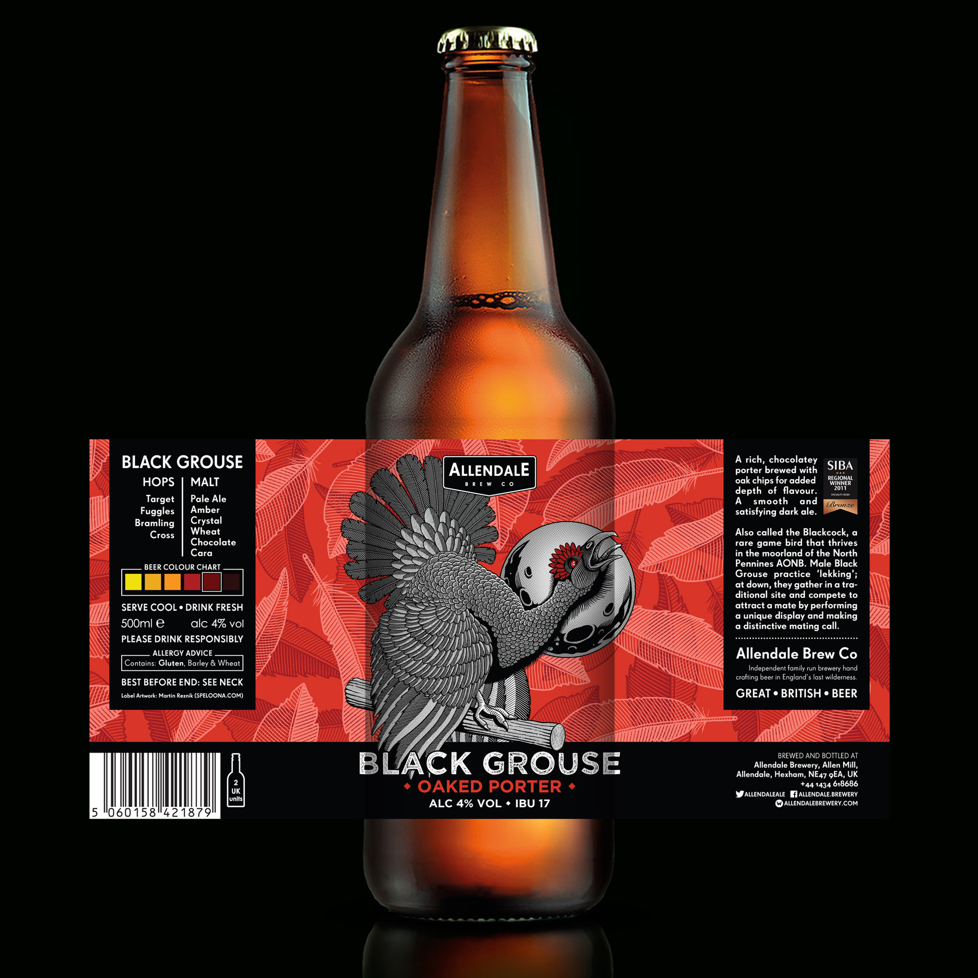 allendale-black-grouse-beer-bottle-label