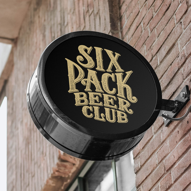 six-pack-beer-club-shop-sign-logo-design