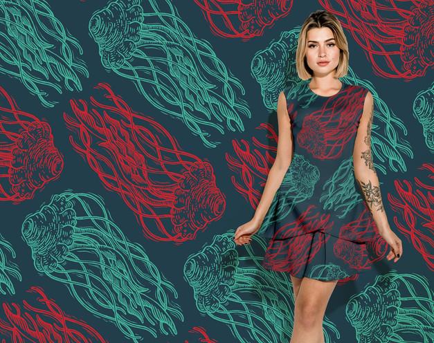 Jelly pattern on a dress
