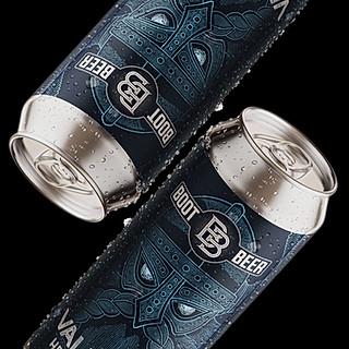 Valhalla Beer Label Design for Boot Beer