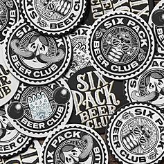Six Pack Beer Club Logo & Branding