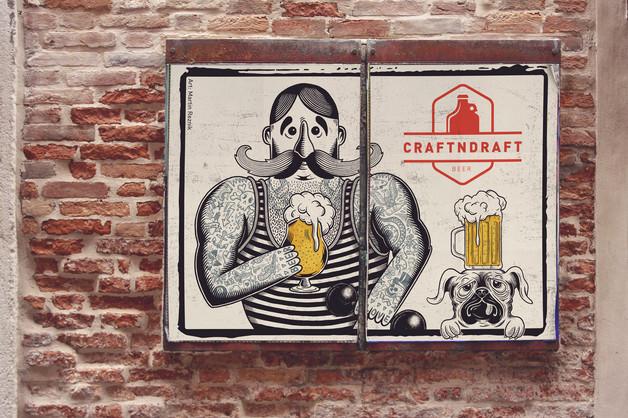 craftndraft-strongman-beer-poster-design