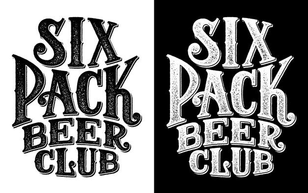 six-pack-beer-club-logo-design-b&w-brand