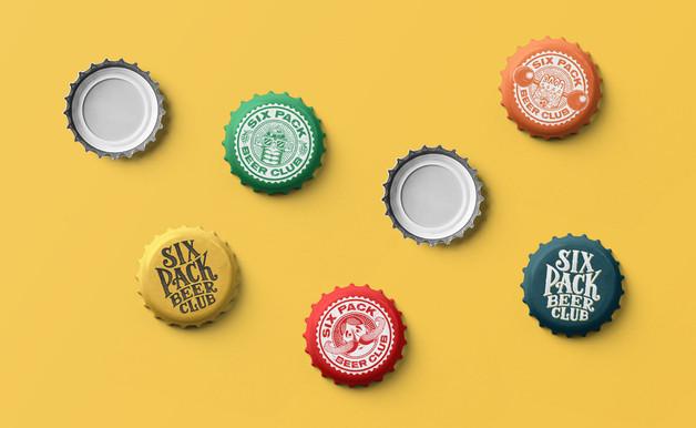 six-pack-beer-club-logo-bottle-cap-badge