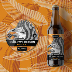 Curlew's Return Beer Label Design