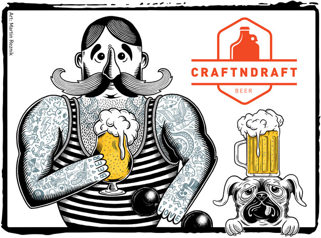 craftndraft-strongman-beer-sticker-desig