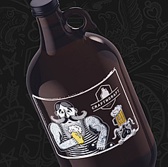 Beer Growler Sticker Design for Craftndraft