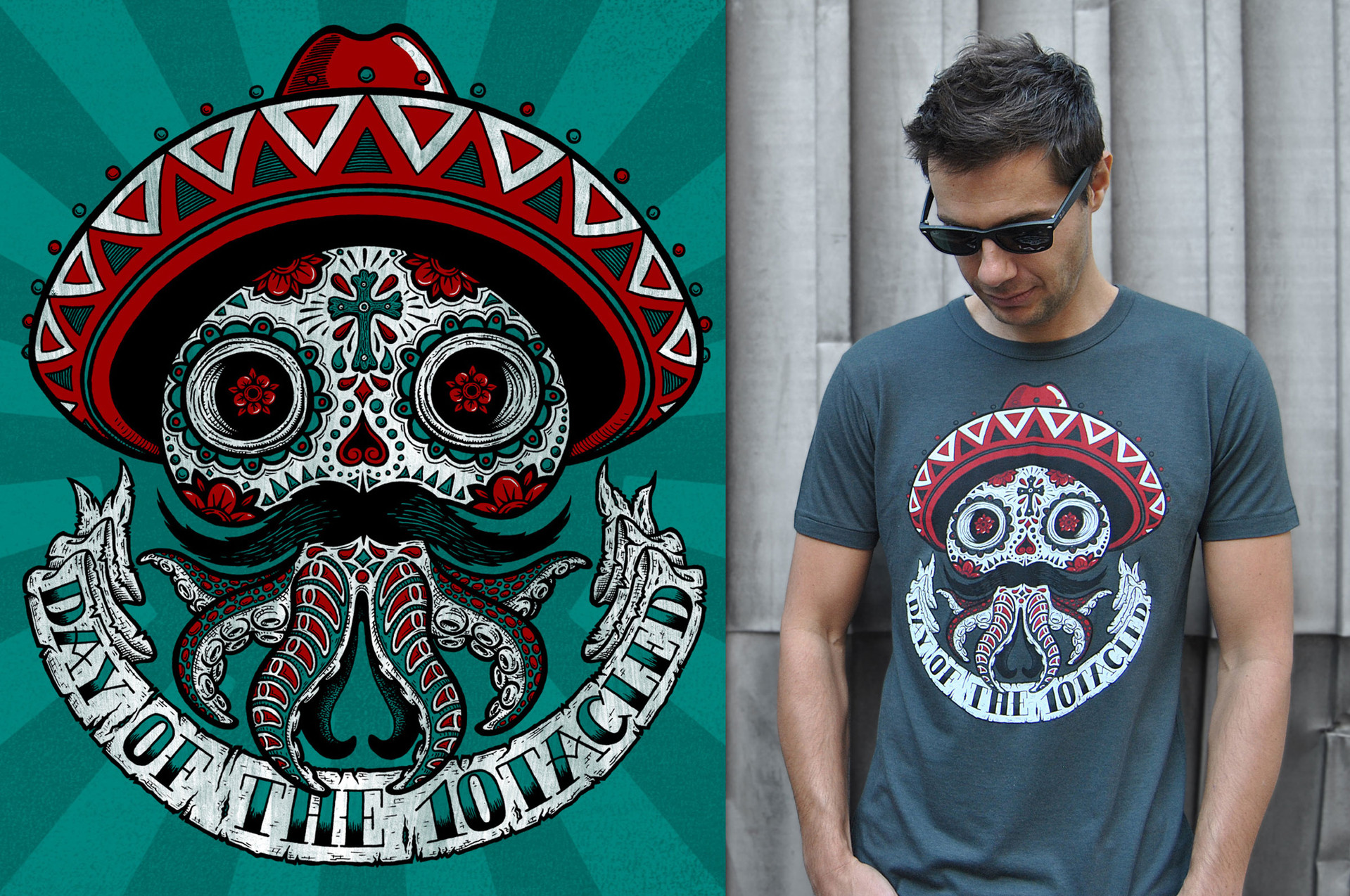 Calavera t-shirt design for 10tacled