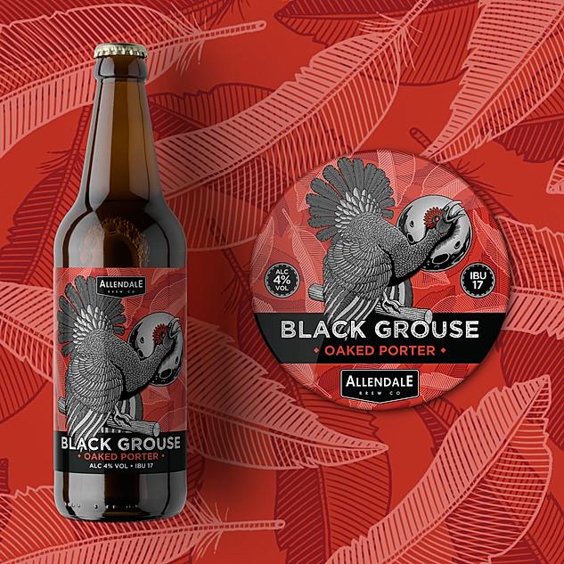 Black Grouse Beer Label Design