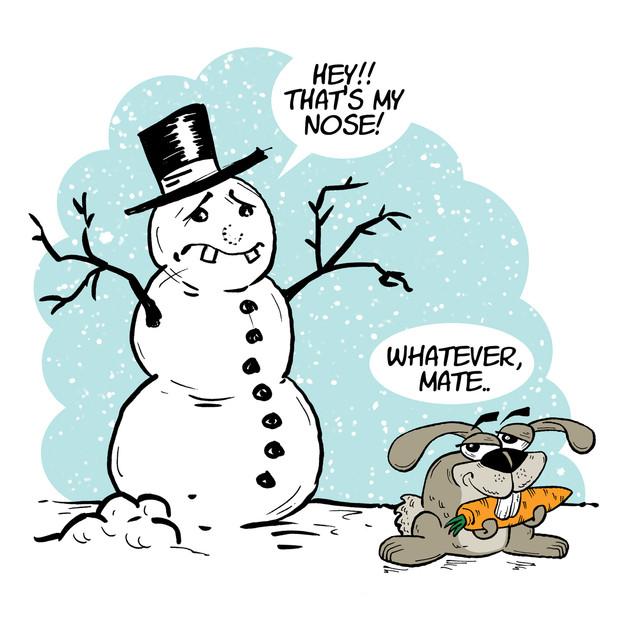 Snowman greeting card martin marcin rezn