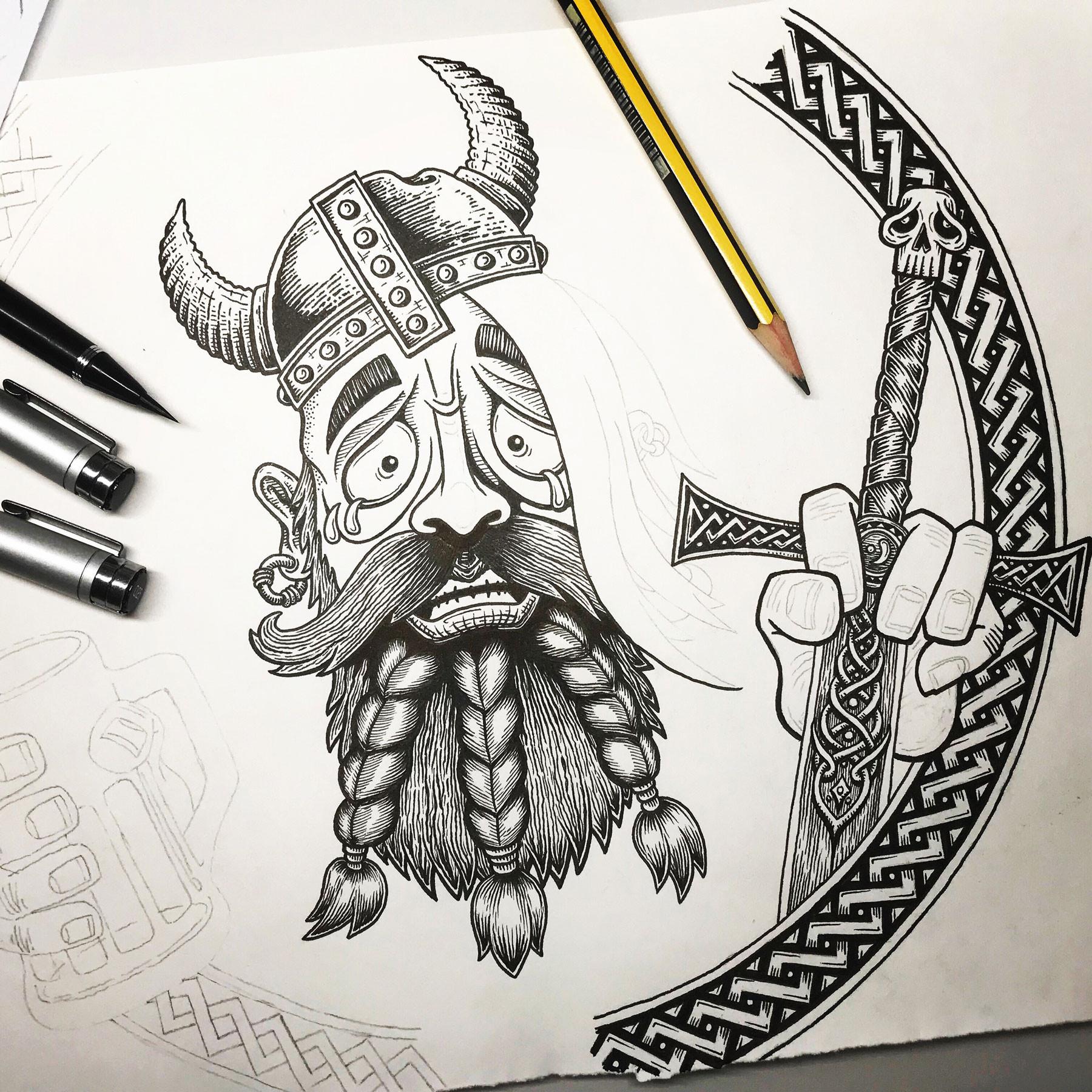 boot-beer-ivar-hand-drawn-tshirt-design-