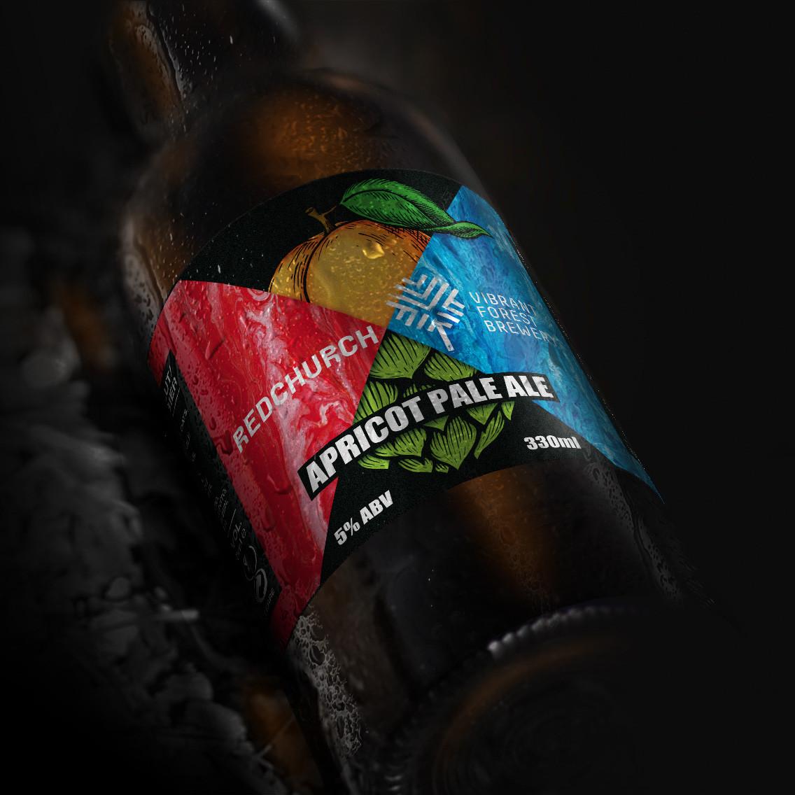 Redchurch Apricot Pale Ale Label Design