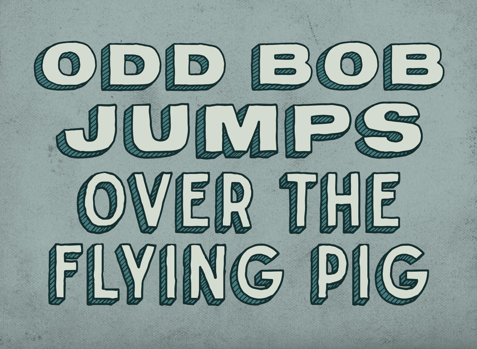 odd-bob-flying-pig-hand-drawn-font-typef