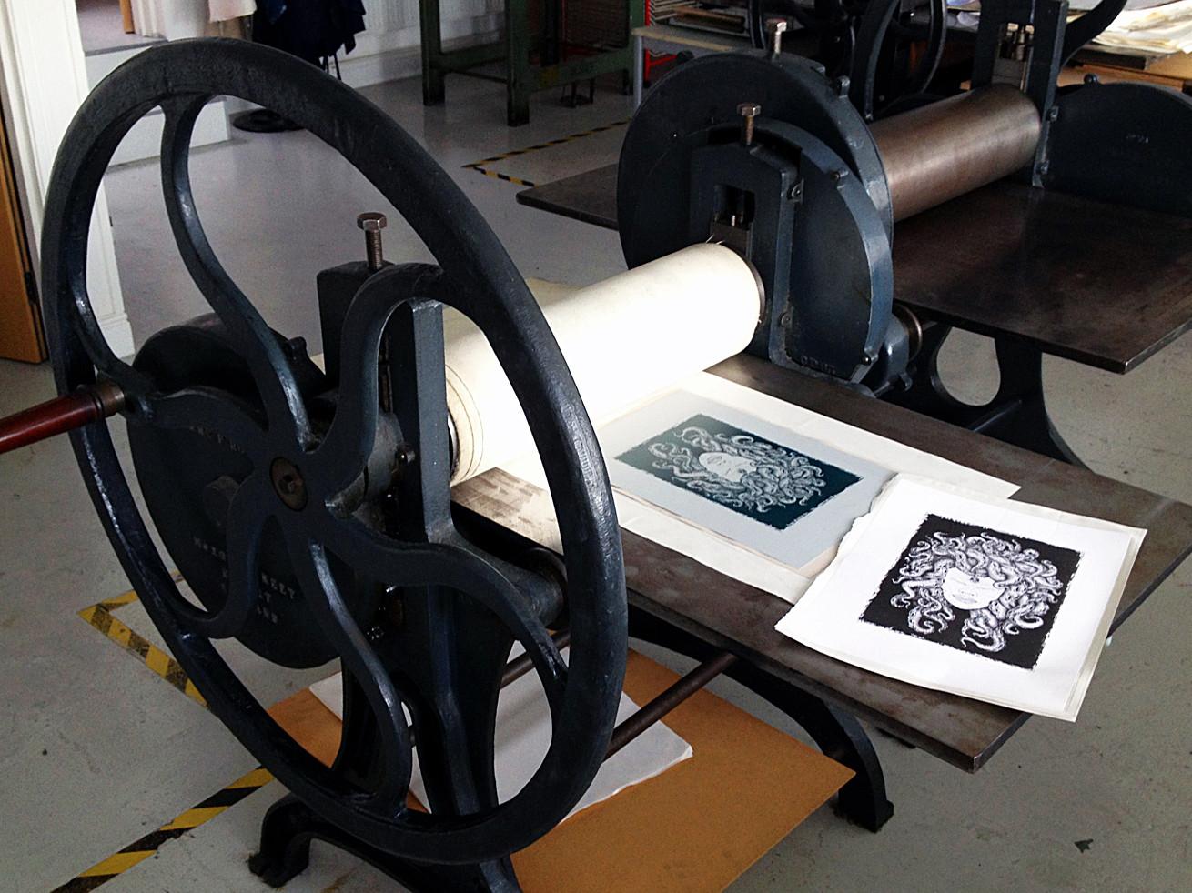Medusa photolitho print press martin mar