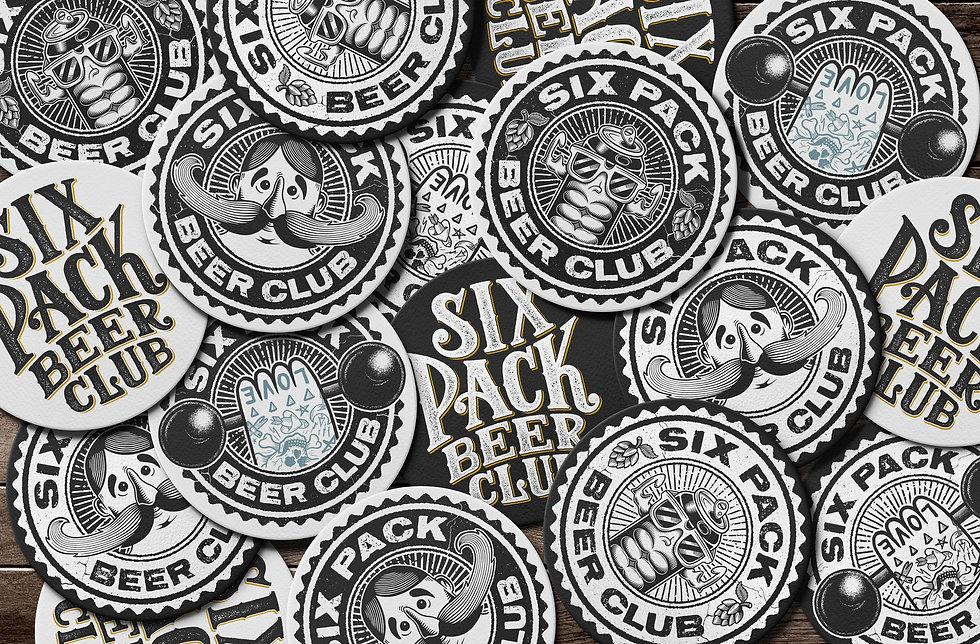 six-pack-beer-club-logo-coasters-design-