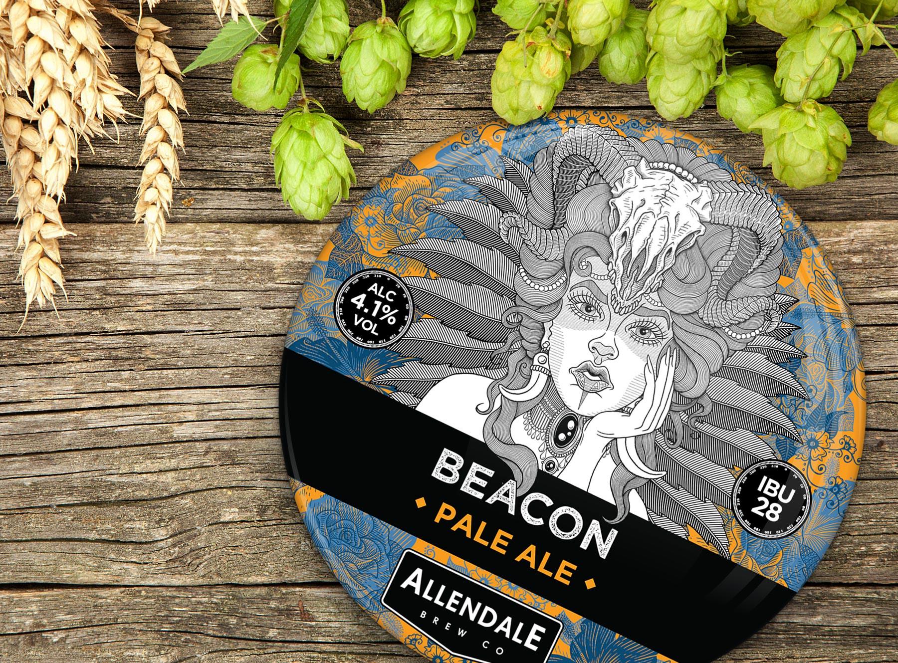 allendale-beacon-pump-clip-beer-label-de