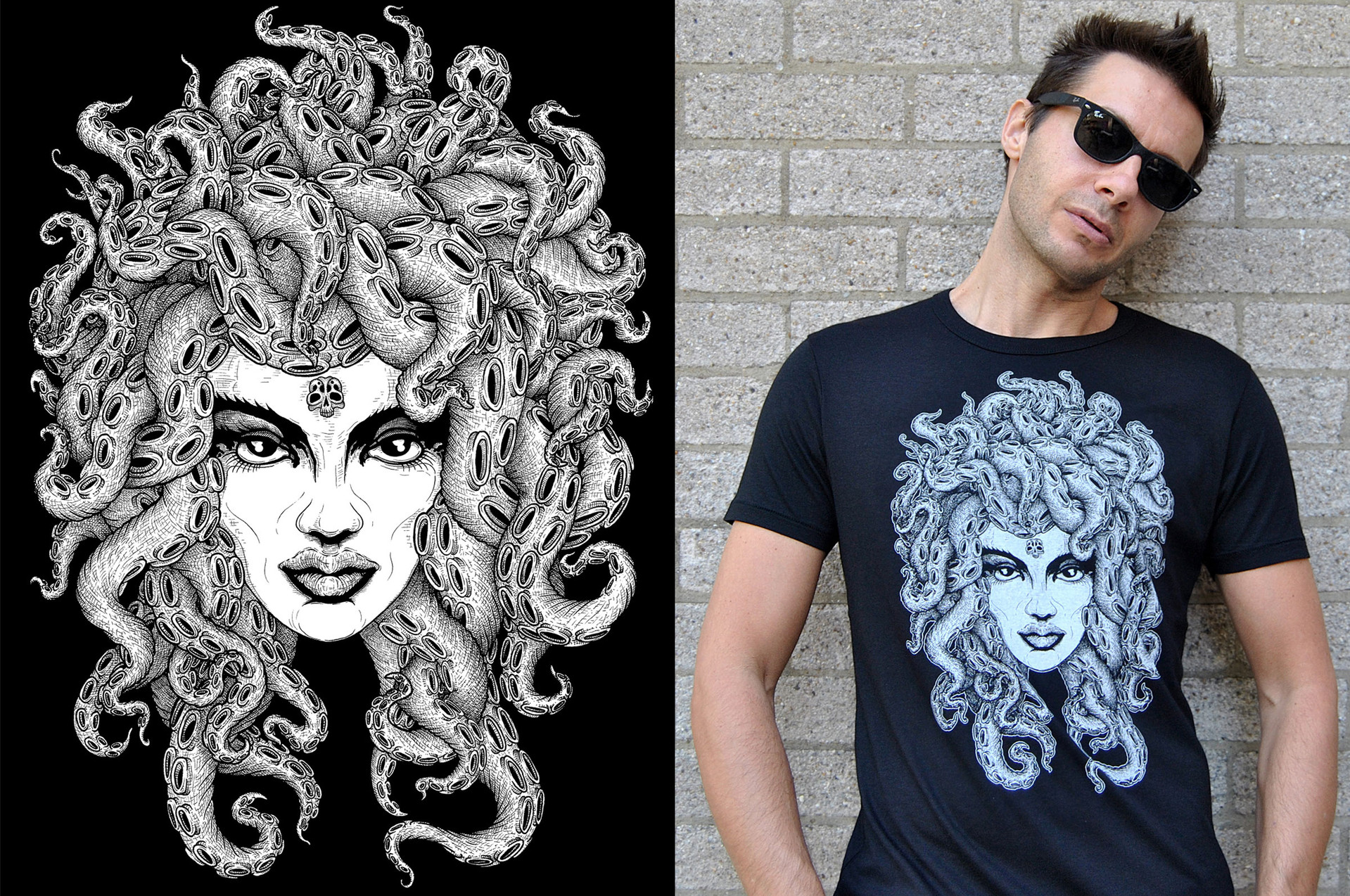 Medusa t-shirt design for 10tacled