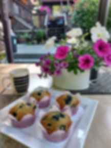 Fresh Baked Blueberry Oatmeal Muffins