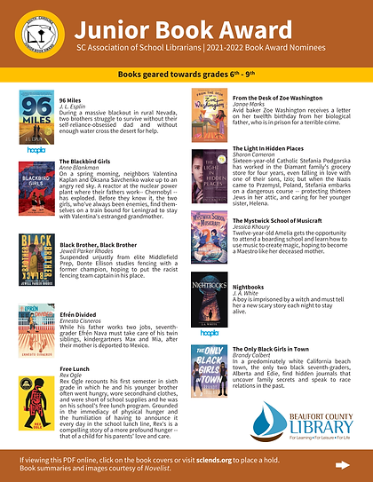 SC Book Award Nominees 2021-2022_Junior