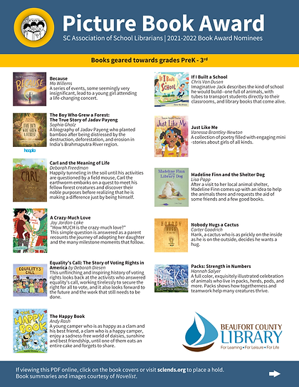 SC Book Award Nominees 2021-2022_Picture