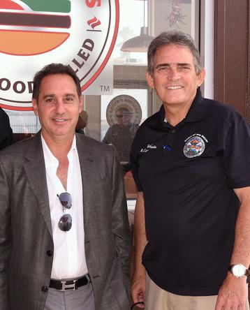 Founder, Alex, with Mayor Davis
