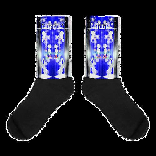socks in Loubie blue
