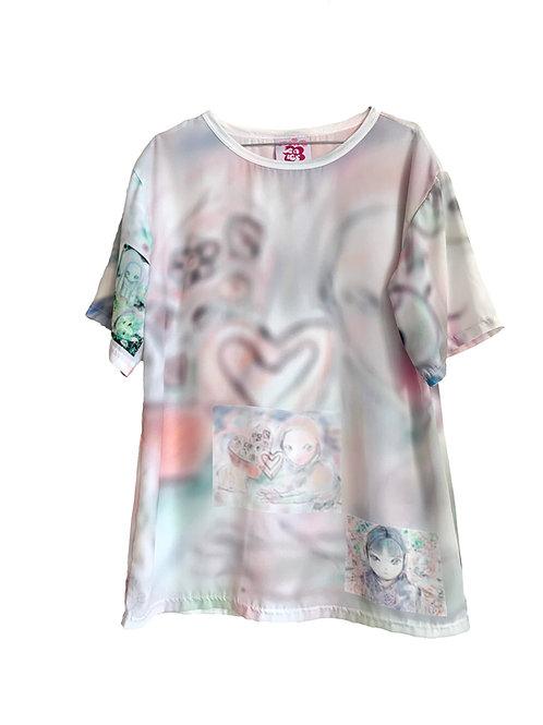 oversizd chiffon T-shirt