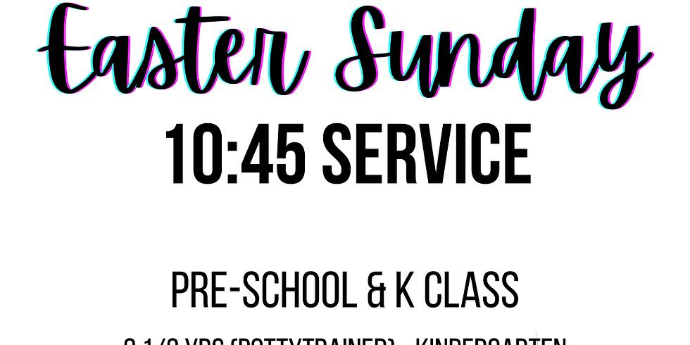 10:45 Preschool/K Sunday Registration