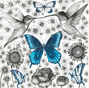 Blue Butterfly and Pollinators