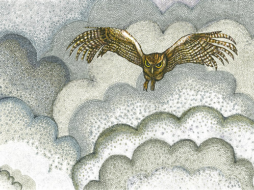 Smoke Series: Owl in Smoke II