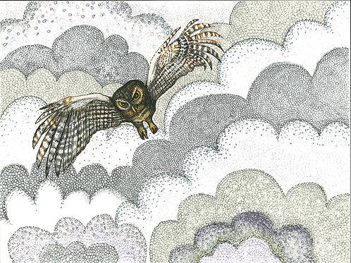 Smoke Series: Owl in Smoke