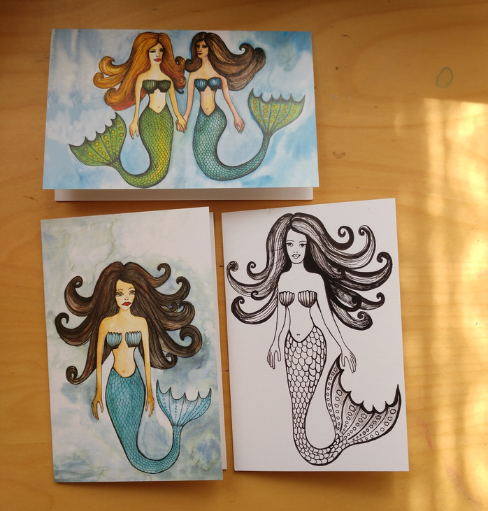 Mermaid card series