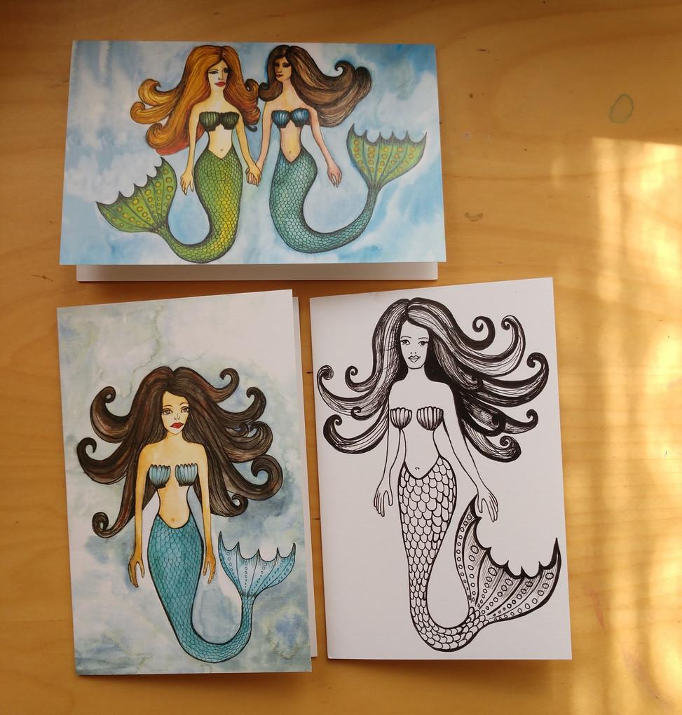 Mermaid card series