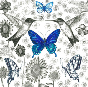 Blue Pollinators Series I