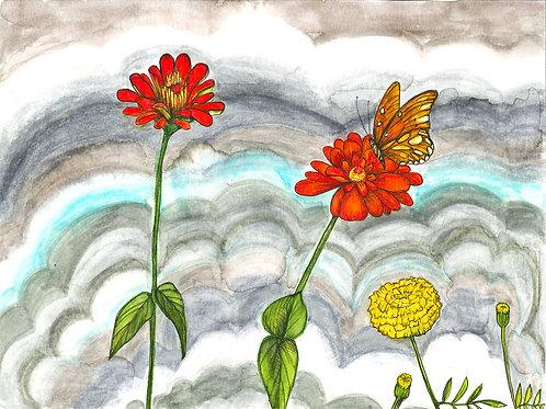Smoke Flowers Butterflies