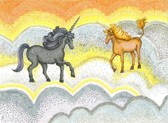 Sunset Clouds and Unicorns