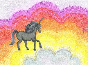 Midnight Rainbow Unicorn