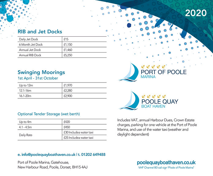 PQBH RIB_Jet Docks price List June 2020.