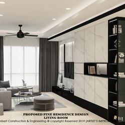 Pine Residence TV wall design