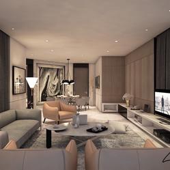 V Residence living lounge