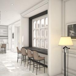 Modern classic bar lounge