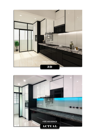 PINE RESIDENCE 3D VS ACTUAL PHOTO
