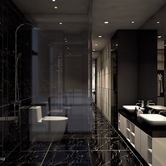 V Residence master bathroom