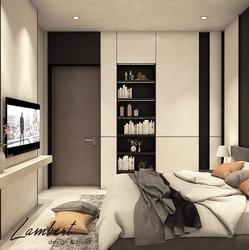 V Residence bedroom design