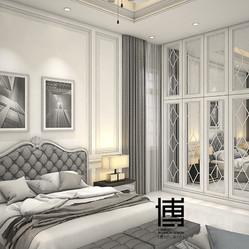 Modern classic master bedroom