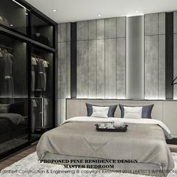 Pine Residence master bedroom