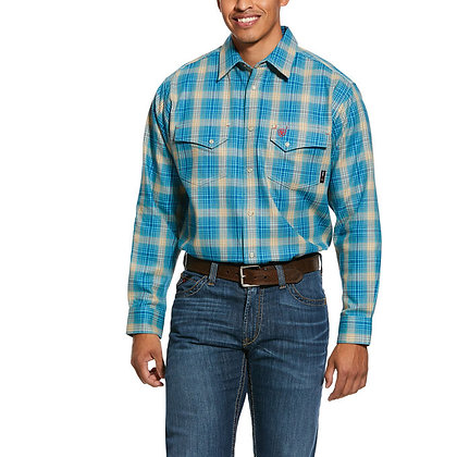 ARIAT FR Sanders Classic Fit Snap Work Shirt